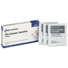 10 Person ANSI Class A Refill, BZK Antiseptic Wipes, 10/Box