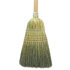 "Warehouse Broom, Corn Fiber Bristles, 56"" Overall Length, Natural"