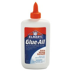 Glue-All White Glue, 7.63 oz, Dries Clear