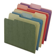 Earthwise by 100% Recycled Colored File Folders, 1/3-Cut Tabs, Letter Size, Assorted, 50/Box