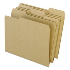 Earthwise by 100% Recycled Colored File Folders, 1/3-Cut Tabs, Letter Size, Natural, 100/Box