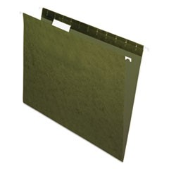 Standard Green Hanging Folders, Letter, 1/5 Tab, Standard Green, 25/Box