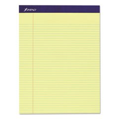 Legal Ruled Pads, Narrow Rule, 8.5 x 11.75, Canary, 50 Sheets, 4/Pack