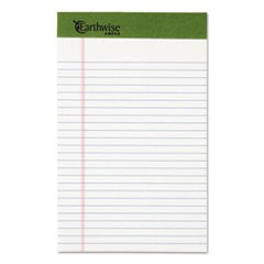 Earthwise by Oxford Writing Pad, Narrow Rule, 5 x 8, White, 50 Sheets, Dozen