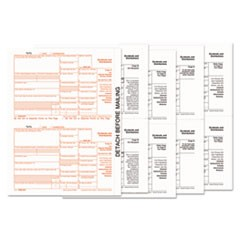 1099-Div Tax Forms, 5-Part, 5 1/2 x 8, Inkjet/laser, 24 1099s and 1 1096