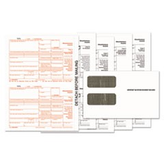 1099-MISC Tax Form Kits, 8 x 5.5, 5-Part, Inkjet/Laser, 24 1099s and 1 1096