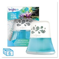 Scented Oil Air Freshener, Calm Waters and Spa, Blue, 2.5 oz, 6/Carton
