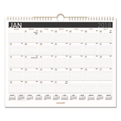 Contemporary Medium Monthly Wall Calendar, 14 7/8 x 11 7/8, 2018