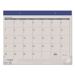 Fashion Color Desk Pad, 22 x 17, Blue, 2019