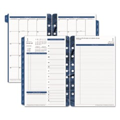 Monticello Dated Two-Page-per-Day Planner Refill, 5 1/2 x 8 1/2, 2018