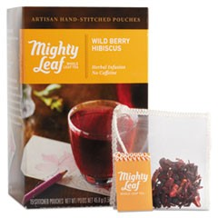 Whole Leaf Tea Pouches, Wild Berry Hibiscus, 15/Box