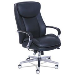 Commercial 2000 High-Back Executive Chair with Dynamic Lumbar Support, Black