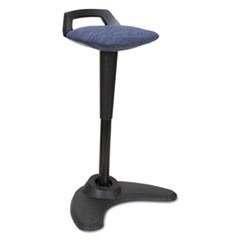 AdaptivErgo Sit to Stand Perch Stool, Blue with Black Base