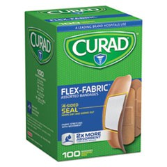 Flex Fabric Bandages, Assorted Sizes, 100 per Box