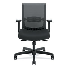 Hon Convergence Mid-Back Task Chair With Syncho-Tilt Control/Seat Slide, Supports Up To 275 Lbs, Black Seat/Back, Black Base