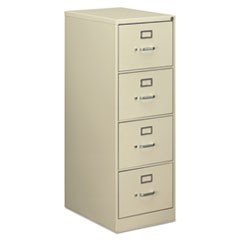 Four-Drawer Economy Vertical File Cabinet, Legal, 18.25w x 25d x 52h, Putty