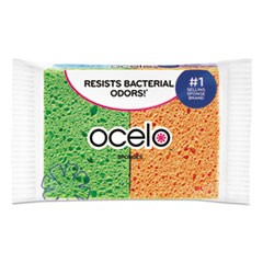 O-Cel-O Sponge w/3M Stayfresh Technology, 4 7/10 x 3 x 3/5, 4/Pack