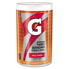Thirst Quencher Powder Drink Mix, Fruit Punch, 1.34oz Stick, 64/Carton