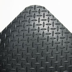 Crownindustrial Deck Plate Anti-Fatigue Mat, Vinyl, 36 X 144, Black