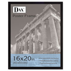 Flat Face Wood Poster Frame, Clear Plastic Window, 16 x 20, Black Border