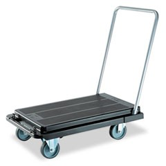 Heavy-Duty Platform Cart, 500lb Capacity, 21w x 32 1/2d x 37 1/2h, Black