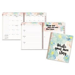 B Positive Prof. Week/Month Planner, Write Your Own Story, 9 1/4 x 11 3/8, 2018