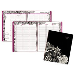 Floradoodle Professional Weekly/Monthly Planner, 9 3/8 x 11 3/8, 2018-2019