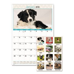 Puppies Monthly Wall Calendar, 15 1/2 x 22 3/4, 2018