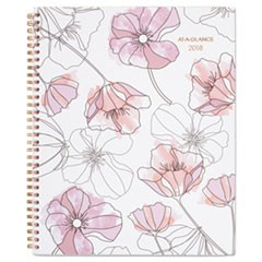 Blush Weekly Monthly Planner, 8 1/2 x 11, Pink