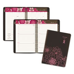 Sorbet Weekly/Monthly Appointment Book, 5 1/2 x 8 1/2, Brown/Pink, 2018