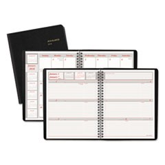 Weekly/Monthly Appointment Book, 6 7/8 x 8 3/4, Black, 2018