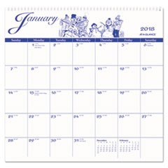 12-Month Illustrator�s Edition Wall Calendar, 12 x 11 3/4, Illustrations, 2018