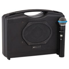 Amplivox Bluetooth Audio Portable Buddy With Wireless Handheld Mic, 50W, Black