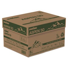 ASPEN 50 Multi-Use Recycled Paper, 20 Bright, 20lb, 8.5 x 14, White, 500 Sheets/Ream, 10 Reams/Carton