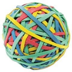 "Rubber Band Ball, 3"" Diameter, Size 32, Assorted Colors, 260/Pack"