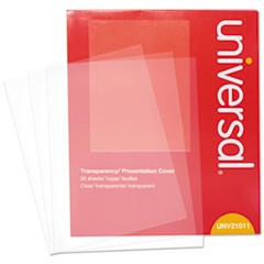 Universal Transparent Sheets, B&W Laser/Copier, Letter, Clear, 50/Pack