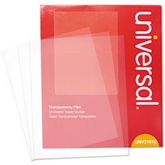 Universal Transparent Sheets, Color Laser, Letter, Clear, 50/Pack