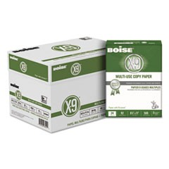 X-9 Multi-Use Copy Paper, 92 Bright, 24lb, 8.5 x 11, White, 500 Sheets/Ream, 10 Reams/Carton