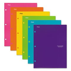 Four-Pocket Portfolio, 8 1/2 x 11, Assorted Colors, Trend Design, 6/Pack