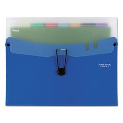 "Horizontal Expanding File with 7 Removable Pockets, 10 1/4"" x 13"", Blue"