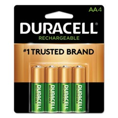 Rechargeable NiMH Batteries with Duralock Power Preserve Technology, AA, 4/Pack