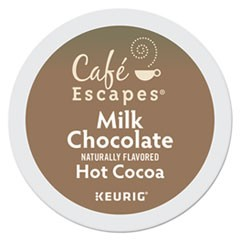 Café Escapes Milk Chocolate Hot Cocoa K-Cups, 96/Carton