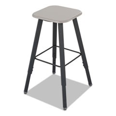 AlphaBetter Adjustable-Height Student Stool, Black, MDF