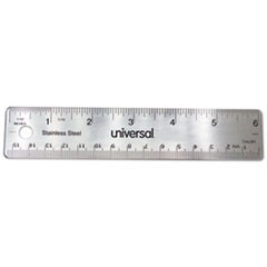 Stainless Steel Ruler, Standard/Metric, 6""