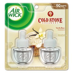 Scented Oil Refill, Cold Stone Creamery Vanilla Bean, 0.67oz, Clear, 2/Pack