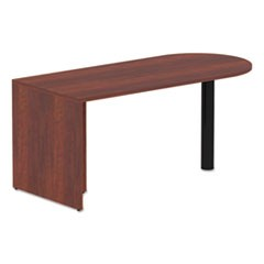 Alera Valencia Series D-Top Desk, 65w x 29 1/2d x 29 1/2h, Medium Cherry