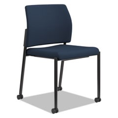 Accommodate Series Guest Chair, Armless, Navy, Fabric, 2 per carton