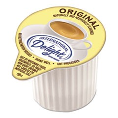 International Delight Flavored Liquid Non-Dairy Coffee Creamer, Original, Mini Cups, 384/Carton