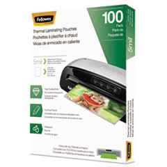 "Laminating Pouches, 5 mil, 9"" x 11.5"", Gloss Clear, 100/Pack"