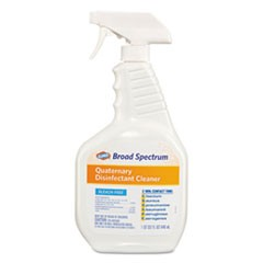 Broad Spectrum Quaternary Disinfectant Cleaner, 32oz Spray Bottle, 9/Carton